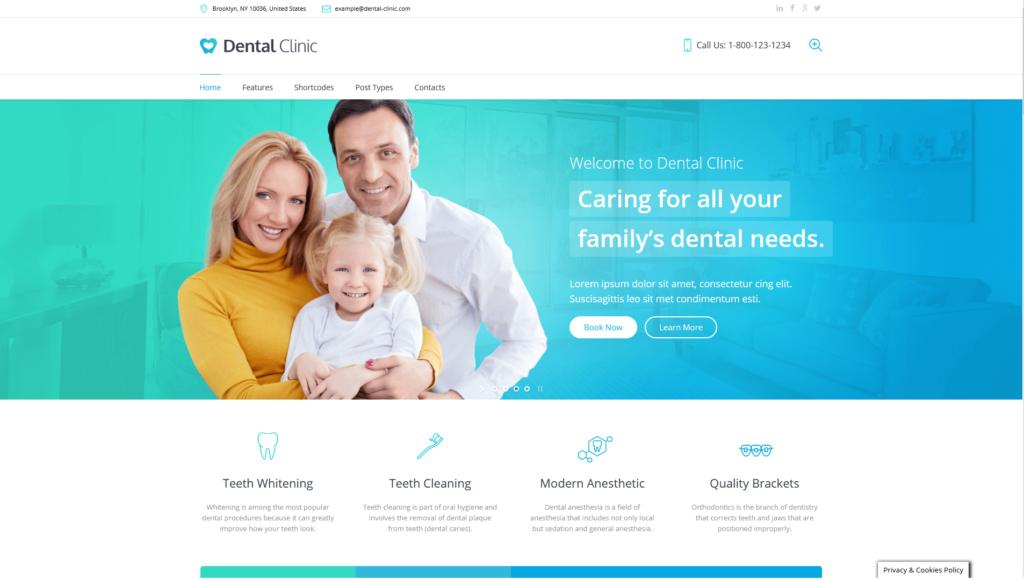 dentysta strona www, usmiechnieta rodzina