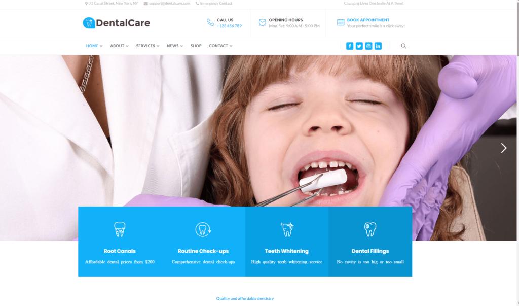 Jak wykonać stronę www dla dentysty