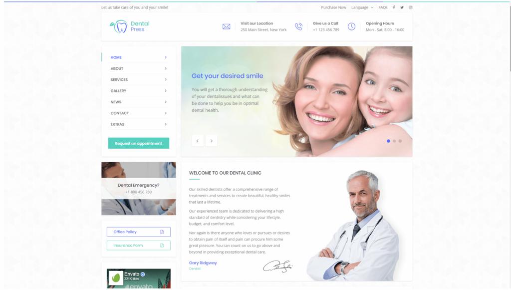 strona internetowa dla stomatologa