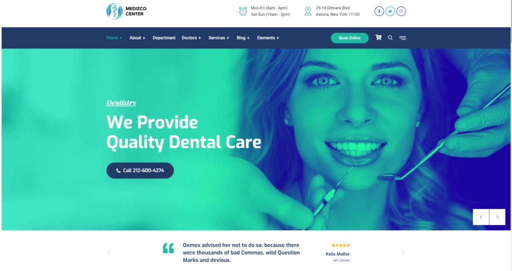 Strona www dla dentysty